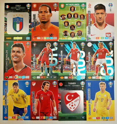 Panini UEFA EURO 2020 ☆ FANS / TEAM MATE ☆ Adrenalyn XL  Cards #208 to #387