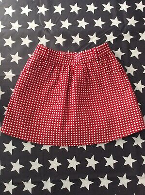 girls mothercare red and white spotty skirt age 7-8
