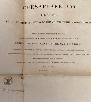 Chesapeake Bay Head Of Bay To Mouth Of Magothy River 1857 Map Chart Sheet 1