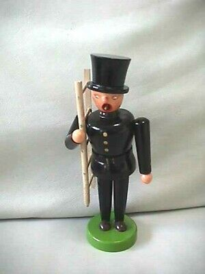 "Vintage German Democratic Republic Chimney Sweep Wooden Smoker Doll 7 1/2"" Tall"