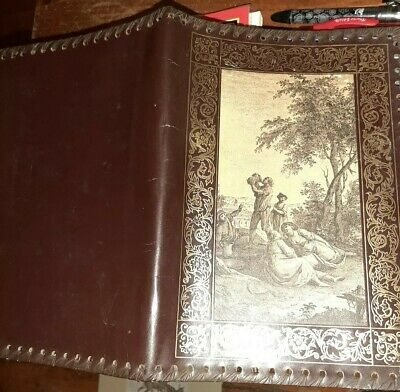 Beautiful antique vintage hand crafted Leather Bible Cover Lot of 2