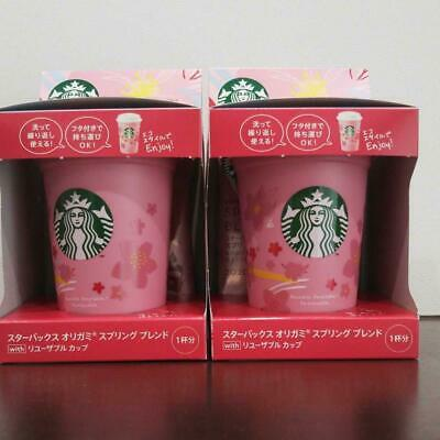 Starbucks Origami Set Of Two Reusable Cups New Japan Limited Rare