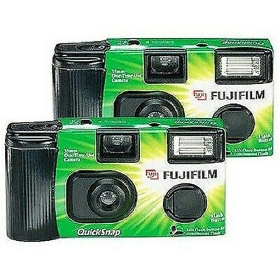 Fujifilm QuickSnap Flash 400 Disposable 35mm Camera (Pack of 2) EXP. 4/2022