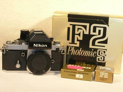Boxed Nikon F2S 35mm Film SLR Body With DP-2 Photomic F2S Meter-Prism