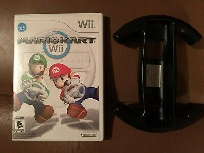 Mario Kart Complete Nintendo Wii Game With Wheel - Tested - Case Game Manual