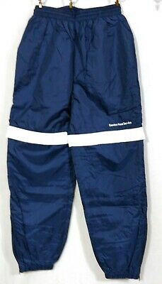 Vintage NOS ACADIA Lined Nylon Pants XL 18-20 Navy Blue White Convertible Shorts