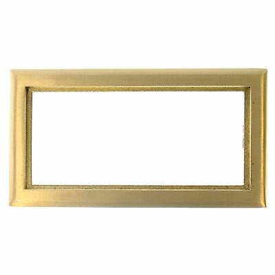 Hubbell Systems Sb3085 Brass 3 Gang Carpet Flange Rectangular Scrubshield