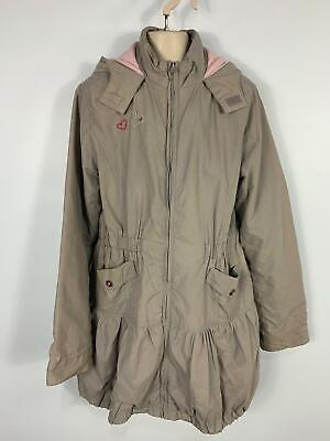 Girls George Taupe Mid Length Casual Winter Rain Coat Jacket Kid Age 13/14 Years