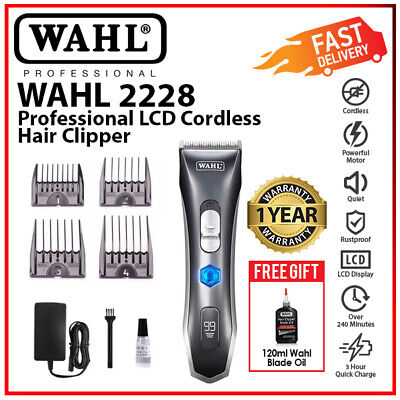 Wahl 2228 Professional LCD Rechargeable Cordless Hair Clipper Shaver Trimmer