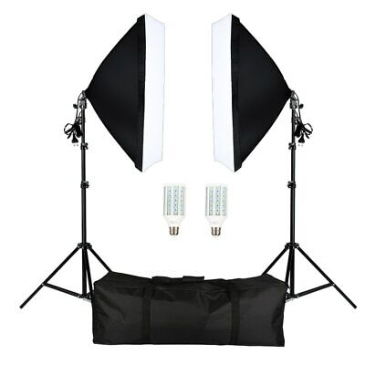 Studio Camera Lighting Equipment Kit LED,Softbox,Light Stand with Carry Bag