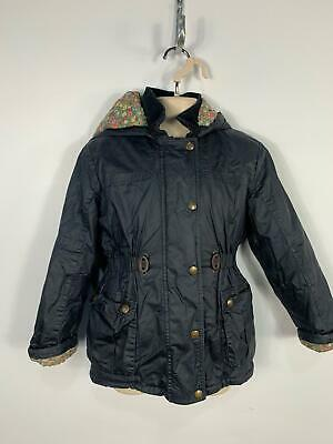 Girls Marks&Spencer Navy Casual Winter Hood Raincoat Jacket Kids Age 6/7 Years
