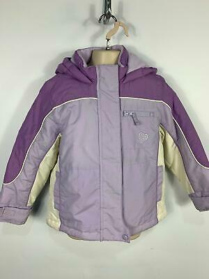 Girls Marks&Spencer Purple Casual Winter Padded Hood Rain Coat Jacket Kids Age 5