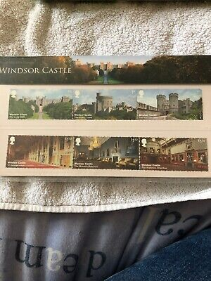 GB 2017 Windsor Castle Set & M/S on two Royal Mail FDC's