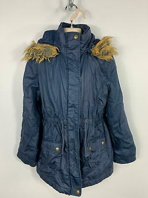 Girls Marks&Spencer Blue Casual Winter Padded Rain Coat Jacket Kids Age 11 Years