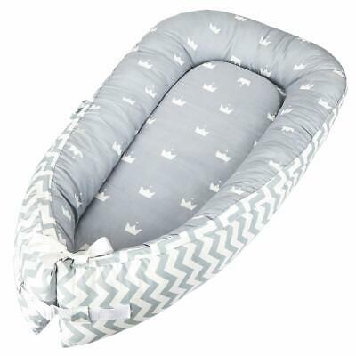 Newborn Baby Nest Bed, Cocoon Cushion Infant Sleeping Pod Pillow, Double Sided