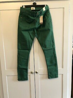 Next Boys Super Stretch Skinny Fit Jeans New With Tags Age 14 Dark Green