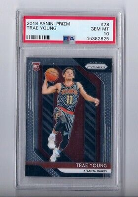2018/19 Prizm Basketball Trae Young Gem Mint PSA 10 RC! HOT!! ALL STAR!!