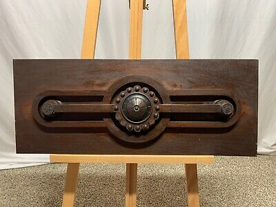 """Large Antique Wood Architectural Salvage CROWN PEDIMENT ARCH 34"""" By 13 1/2"""""""
