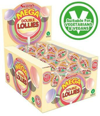 * Box 36 x Swizzels Mega Double Lolly Lollies  Christmas Wholesale RETRO SWEETS