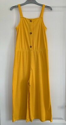 Matalan Girls Yellow Ribbed Jumpsuit - Age 12 Years - Excellent Condition
