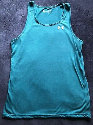 Mens Under Armour Tank Top Shirt Medium Heat Gear Lightly Used Great Condition!