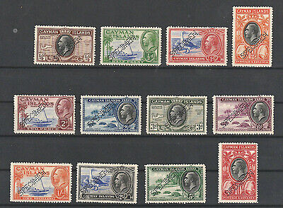 Cayman Islands 1935 Sg 96-107 Specimen Set Unmounted Mint All Very Fine Cat. 350