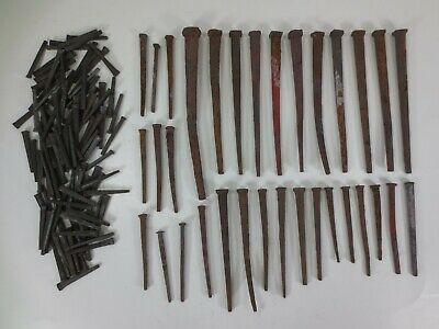 Vintage Antique Square Nails Lot Some Used 105 New