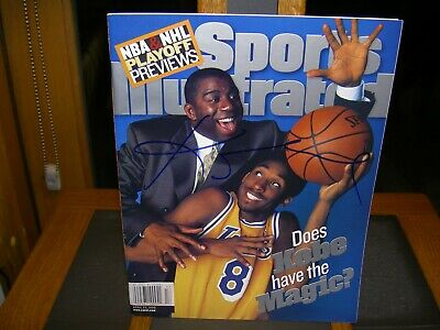 Kobe Bryant First Cover newsstand no label  Autographed Sports Illustrated