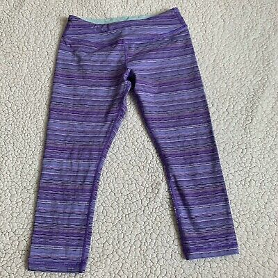 Ivivva Girls Purple Crop Capri Leggings Cropped Size 12