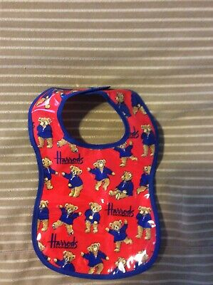Harrods London Teddy Bears Pvc-Coated Canvas Baby Bib