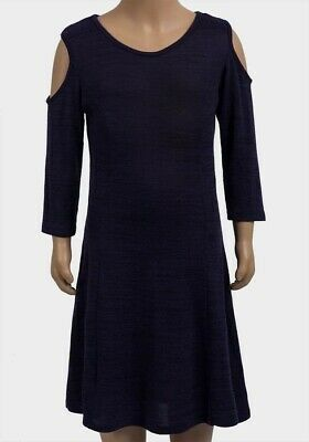 Girls Cold Shoulder Dark Blue Dress. New With Tags. 9-10YEARS