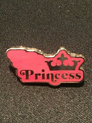 Authentic Rare Disney World Parks Pin Trading Pink Princess Sign Pin - New 2015