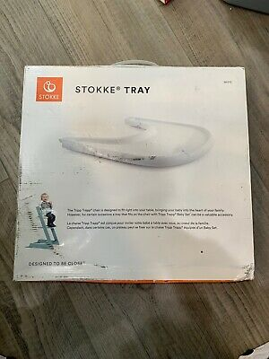 Stokke Tripp Trapp Accessory White Plastic Baby High Chair Tray NEW