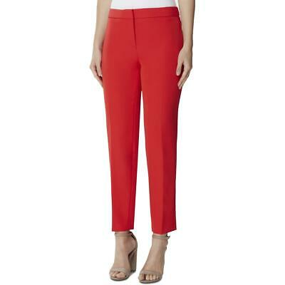 Tahari ASL Womens Red Woven Business Office Dress Pants Regular BHFO 9404