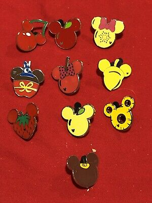10 Disney pins Assorted  Food ME Icons    As Seen Lot x