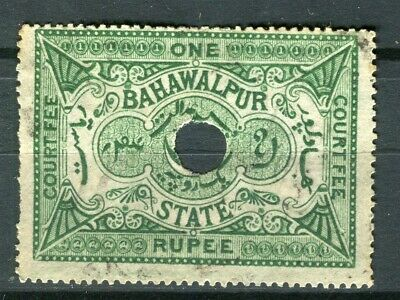 INDIAN STATES; BAHAWALPUR early 1900s local Revenue issue fine used value