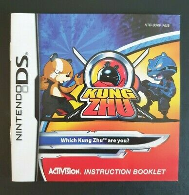 Kung Zhu Instruction Manual / Booklet Nintendo DS (NO GAME MANUAL ONLY)