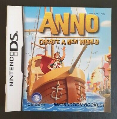 Anno Instruction Manual Booklet Nintendo DS (NO GAME MANUAL ONLY)