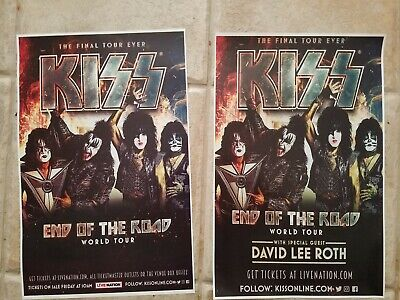 KISS 11x17 promo End Of the Road 2019 2020 tour concert poster tickets shirt lp