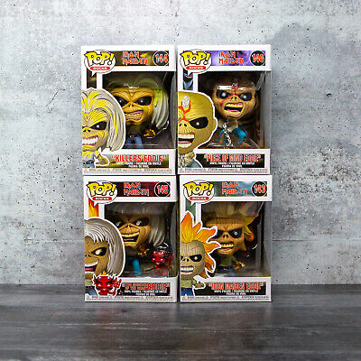Funko Pop Iron Maiden | SET OF 4 w/ Protectors | Killers, Number of the Beast ++