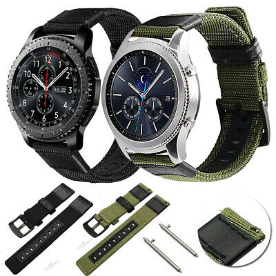 AU Leather Nylon Band Strap For Samsung Galaxy Watch 42mm 46mm Active 2 Gear S3