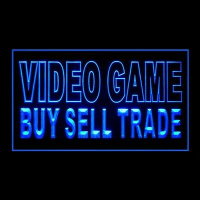 130055 Video Game Buy Sell Trade Exclusive Retailer Display LED Light Sign