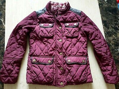 girls Stunning NEXT quilted jacket coat age 9-10 years ex.condition