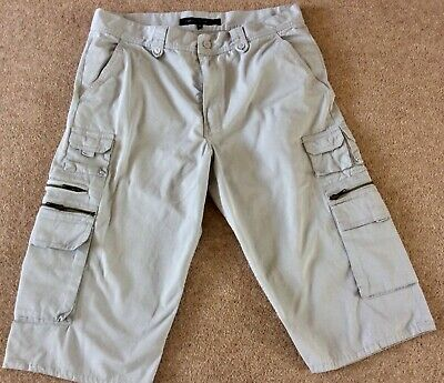 French Connection Mens Grey Cargo Shorts 34 Waist