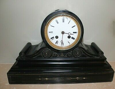 French Slate / Marble Mantle Barrel Clock Case+ Some Fittings c1880