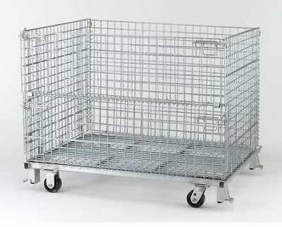 """NASHVILLE WIRE C404824S4C Collapsible Container, 48""""W, Silver"""