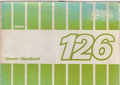 Fiat 126 Original 1984 Owners Instruction Handbook