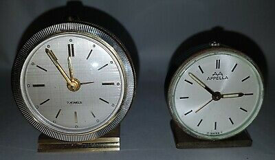 AA Appella Swiss made Wecker Tischuhr Design vintage table travel clock
