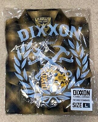 DIXXON FLANNEL THE GOLD STANDARD MENS L LARGE Brand New With Tags Sold Out