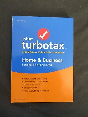 Genuine 2018 Intuit TurboTax Home & Business Federal & State Windows & Mac